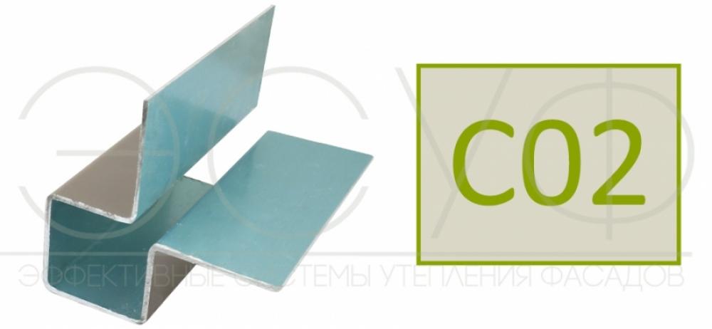 Внешний симметричный угловой профиль Cedral C02