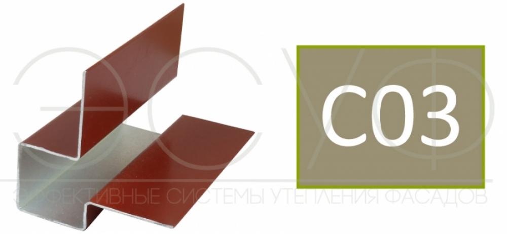 Внешний асимметричный угловой профиль Cedral C03