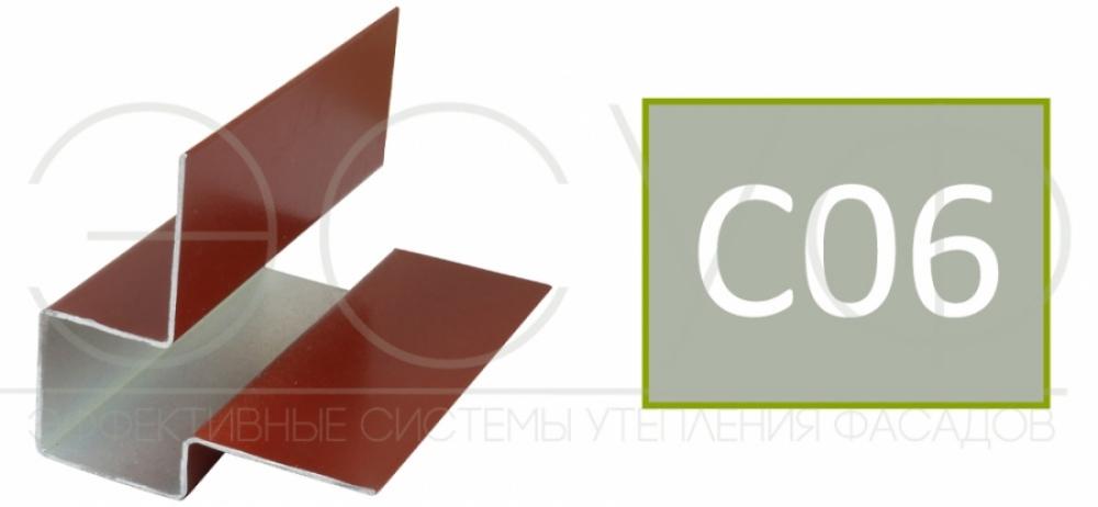 Внешний асимметричный угловой профиль Cedral C06
