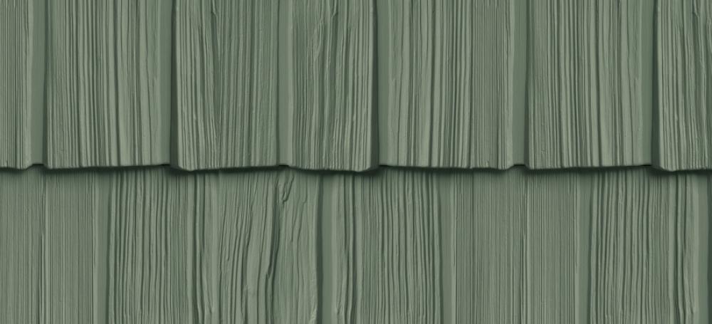 Сайдинг FOUNDRY Щепа Рваный край 152 Зеленый лес