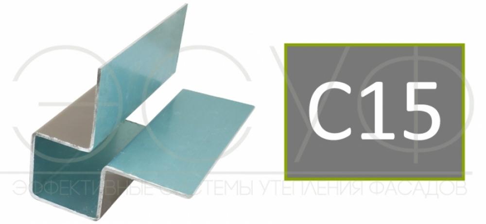 Внешний симметричный угловой профиль Cedral C15
