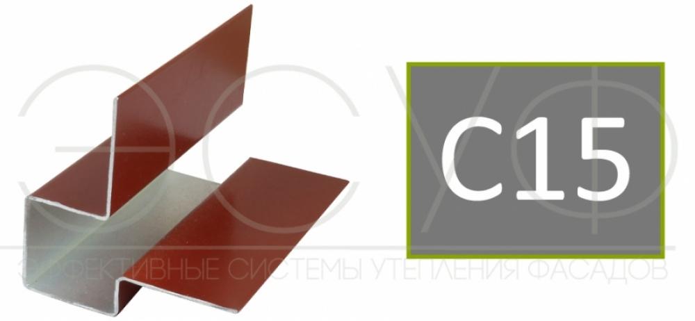 Внешний асимметричный угловой профиль Cedral C15