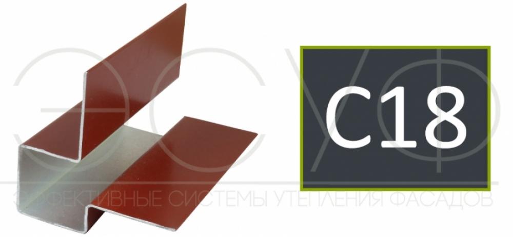 Внешний асимметричный угловой профиль Cedral C18