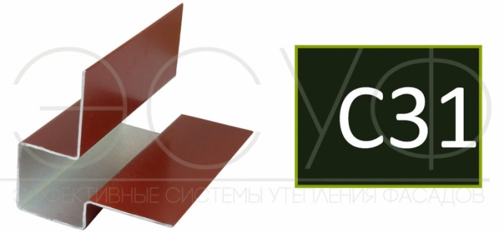 Внешний асимметричный угловой профиль Cedral C31