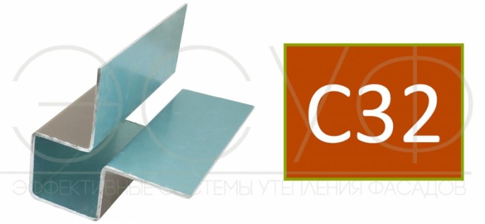 Внешний симметричный угловой профиль Cedral C32
