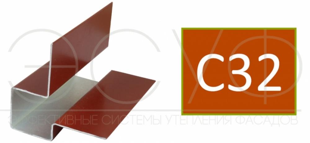 Внешний асимметричный угловой профиль Cedral C32