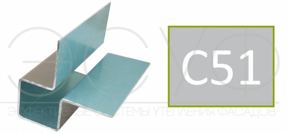 Внешний симметричный угловой профиль Cedral C51