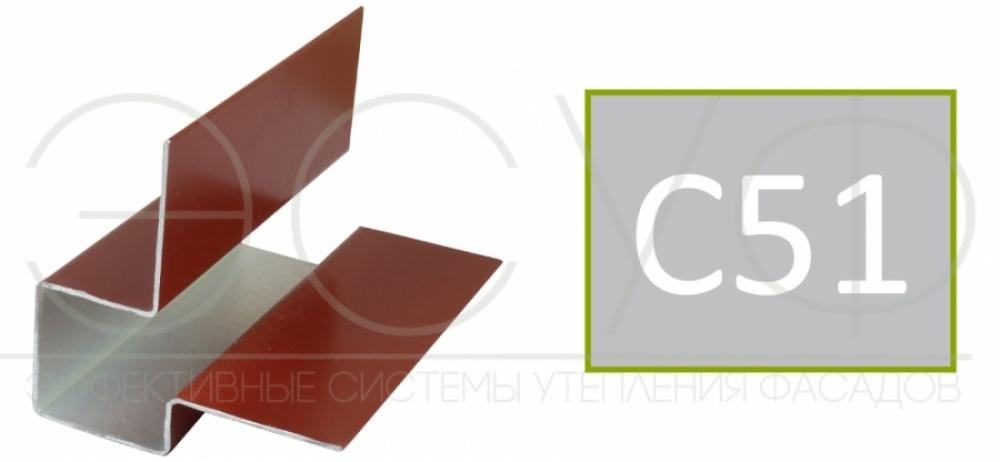 Внешний асимметричный угловой профиль Cedral C51