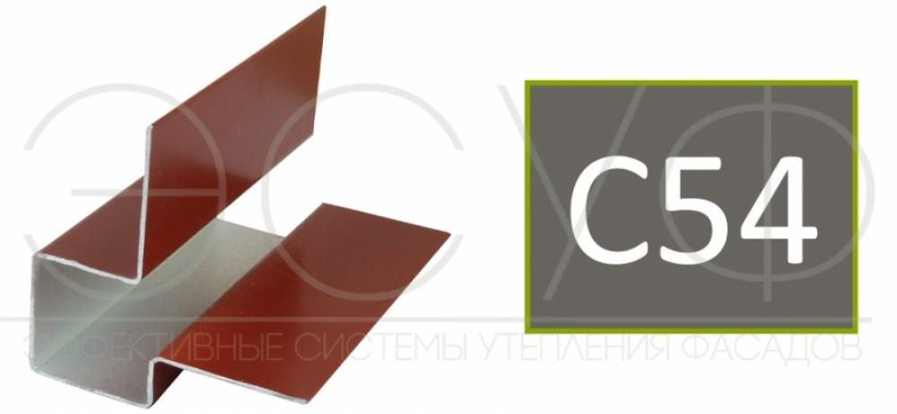 Внешний асимметричный угловой профиль Cedral C54