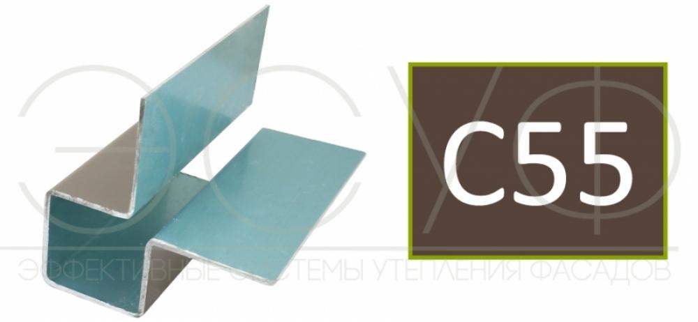 Внешний симметричный угловой профиль Cedral C55