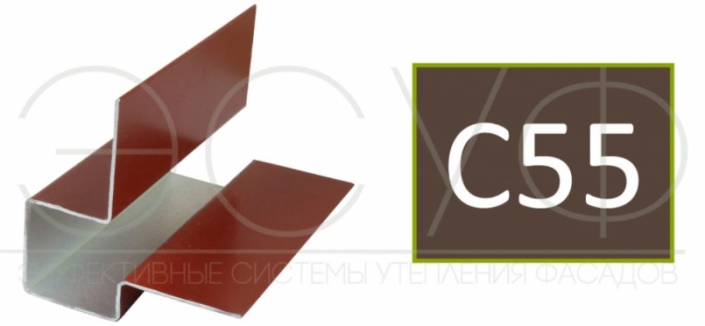 Внешний асимметричный угловой профиль Cedral C55