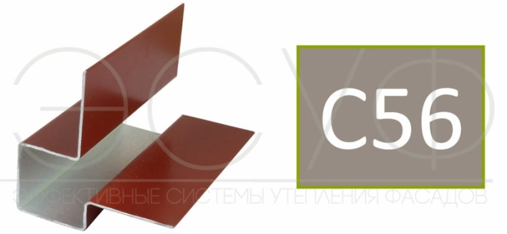 Внешний асимметричный угловой профиль Cedral C56