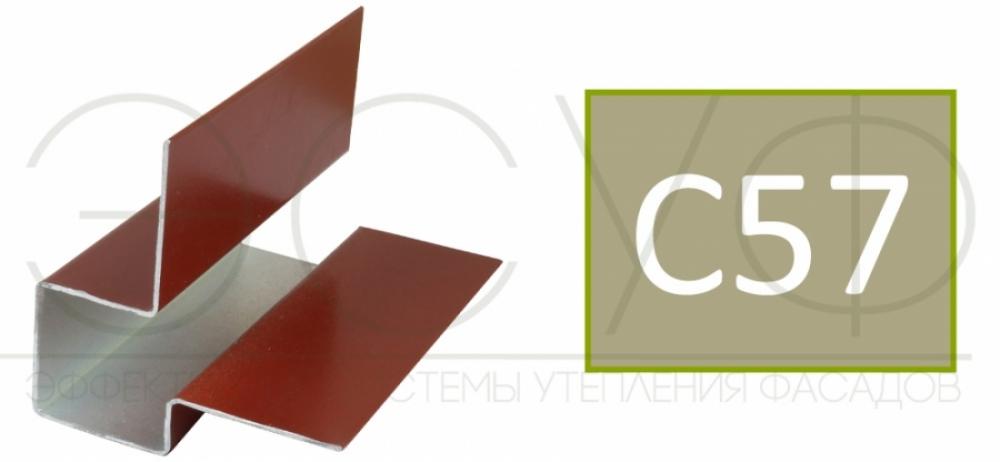 Внешний асимметричный угловой профиль Cedral C57