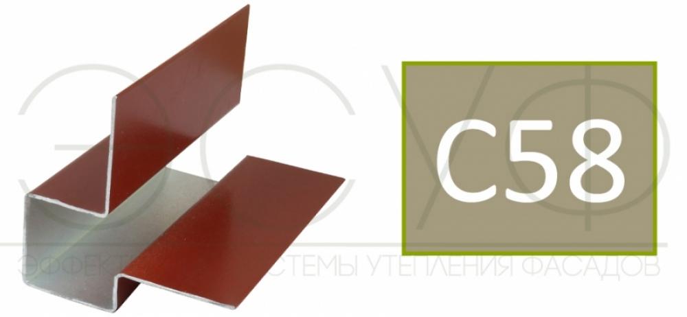 Внешний асимметричный угловой профиль Cedral C58