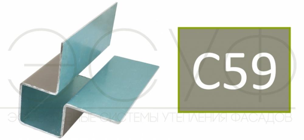 Внешний симметричный угловой профиль Cedral C59
