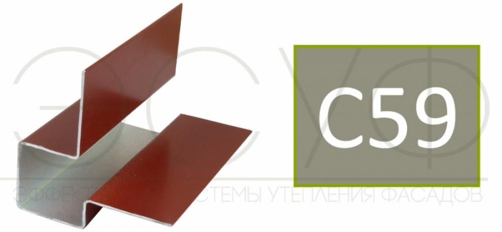 Внешний асимметричный угловой профиль Cedral C59