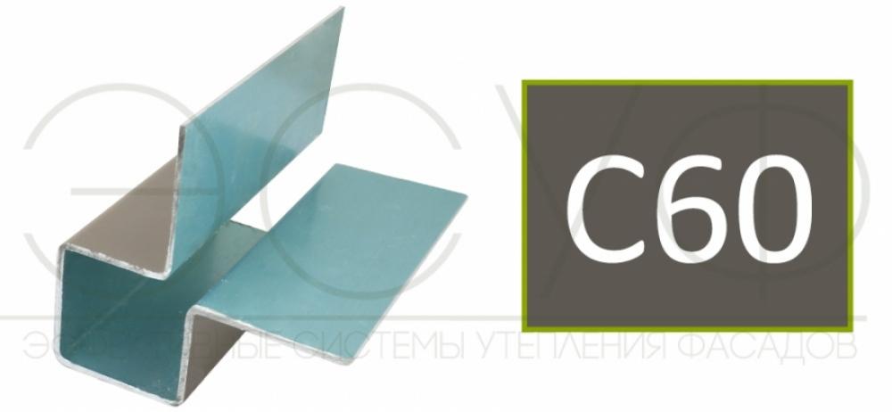 Внешний симметричный угловой профиль Cedral C60