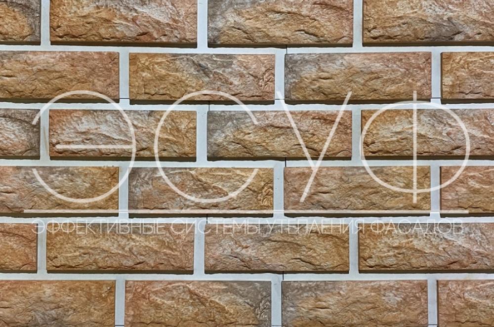 Фасадная плитка Каньон Сколотый кирпич 35