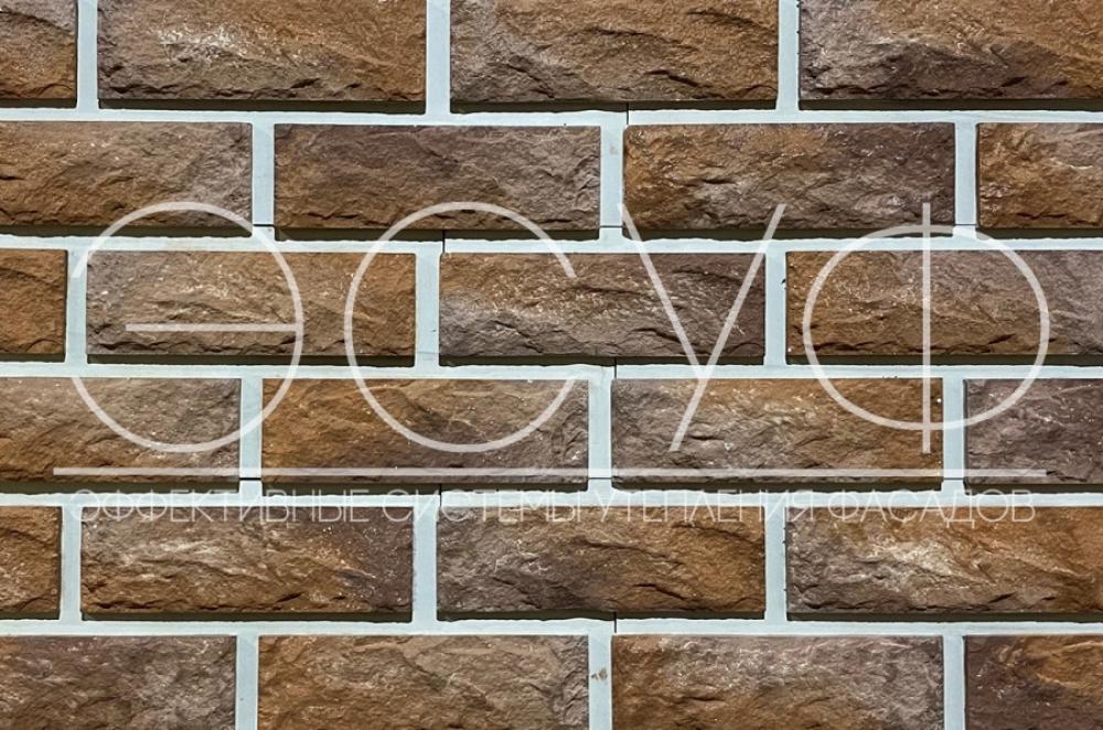 Фасадная плитка Каньон Сколотый кирпич 37
