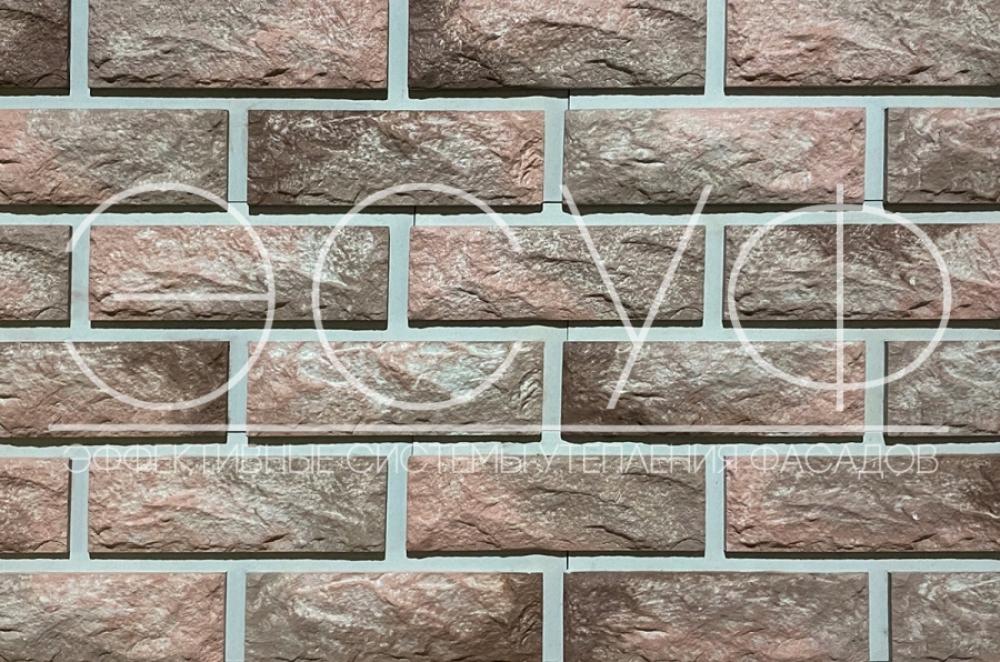 Фасадная плитка Каньон Сколотый кирпич 41