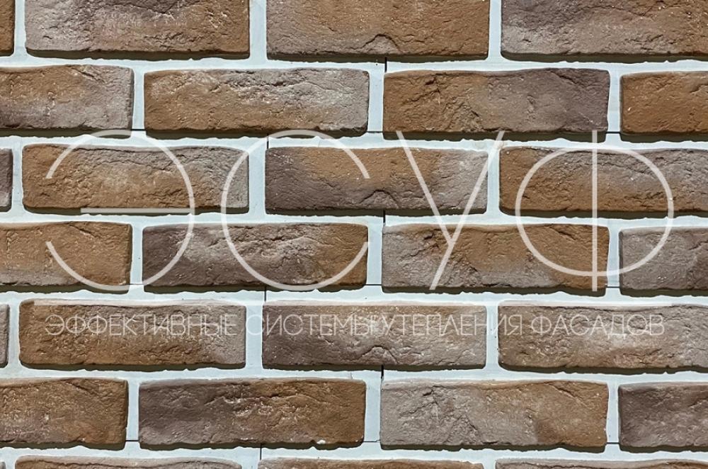 Фасадная плитка Каньон Конаковский кирпич 37