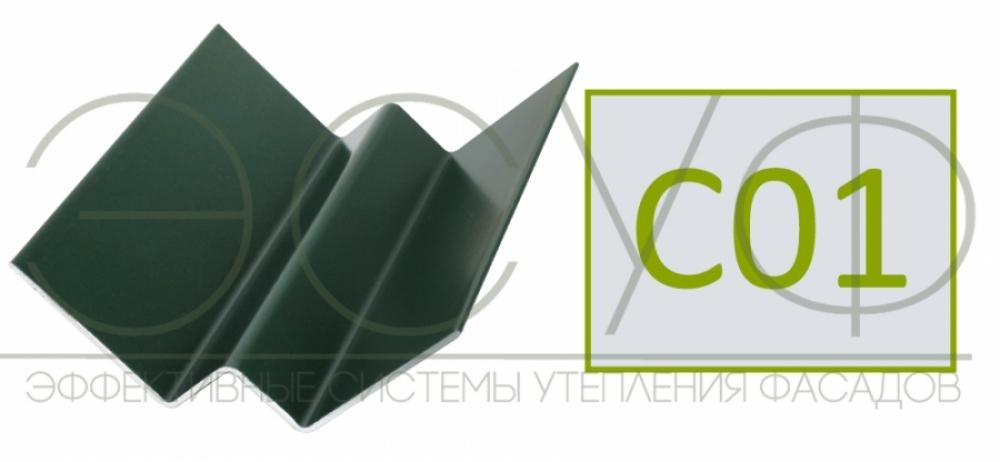 Внутренний угловой профиль Cedral Click C01 Белый минерал