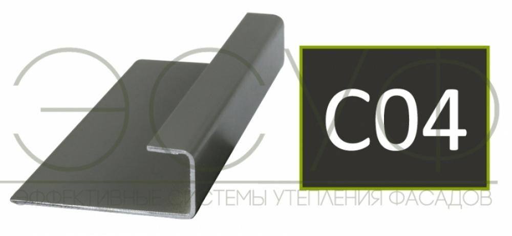 Соединительный профиль алюминиевый 3 м 45/15/8 C01 Cedral C04 Ночной лес