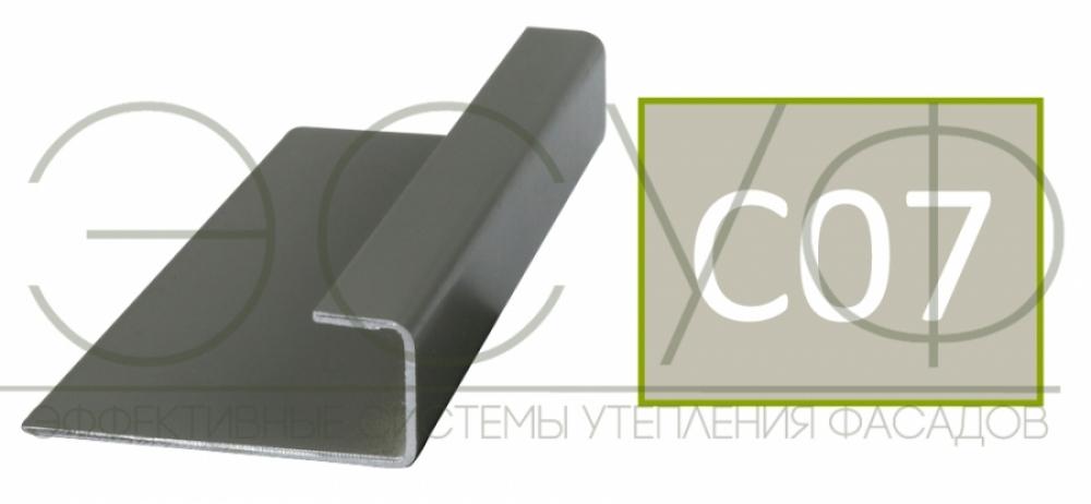 Соединительный профиль алюминиевый 3 м 45/15/8 C01 Cedral C07 Зимний лес