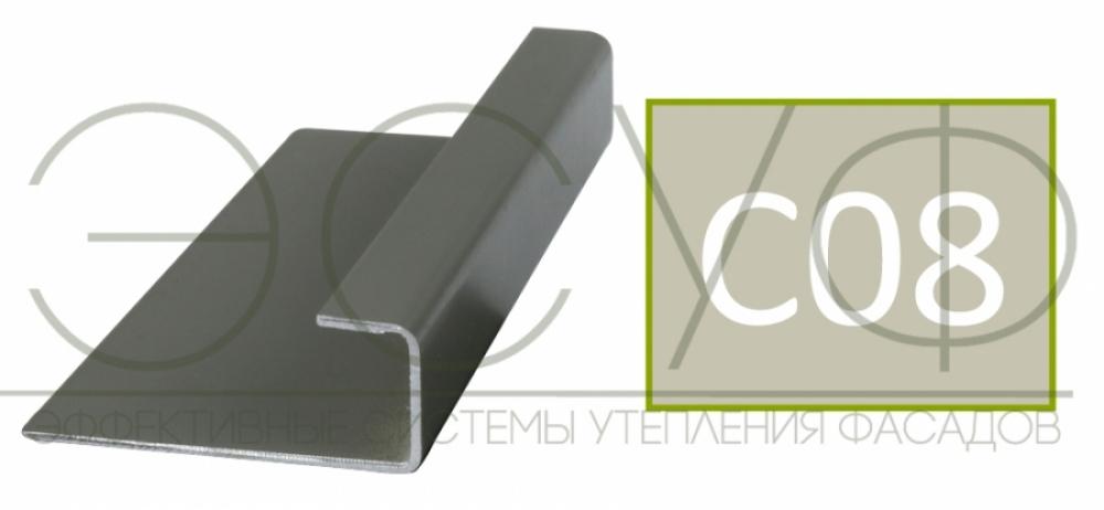 Соединительный профиль алюминиевый 3 м 45/15/8 C01 Cedral C08 Березовая роща