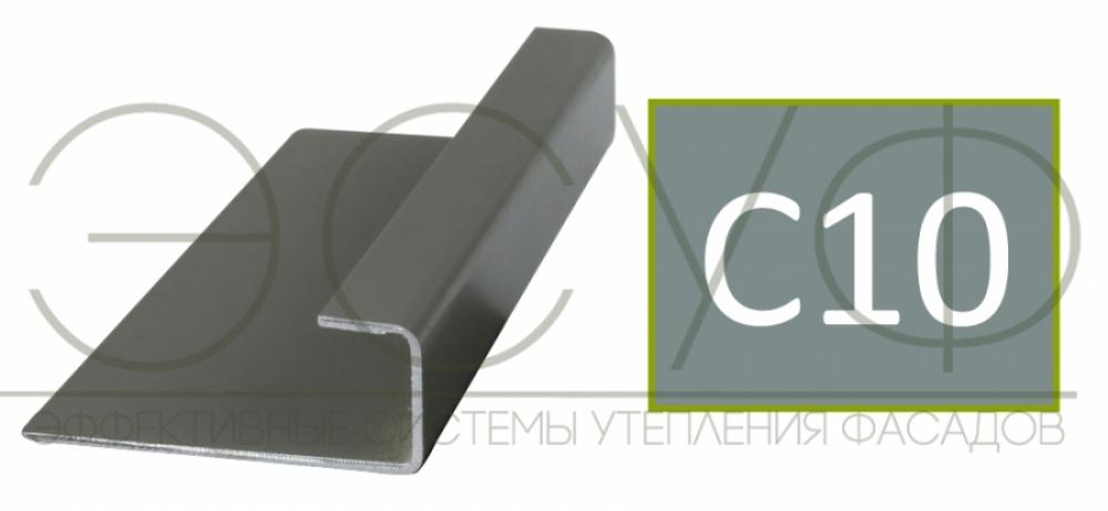 Соединительный профиль алюминиевый 3 м 45/15/8 C01 Cedral C10 Прозрачный океан