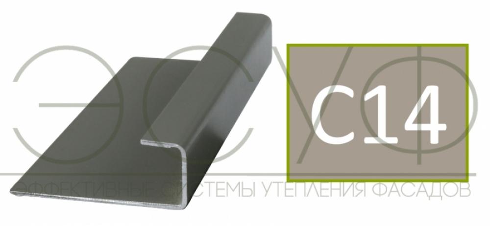 Соединительный профиль алюминиевый 3 м 45/15/8 C01 Cedral C14 Белая глина