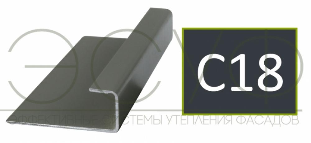 Соединительный профиль алюминиевый 3 м 45/15/8 C01 Cedral C18 Ночной океан