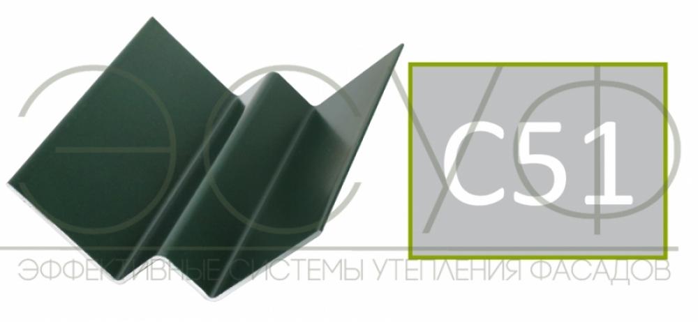 Внутренний угловой профиль Cedral Click C51 Серебристый минерал