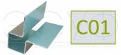 Внешний симметричный угловой профиль Cedral C01