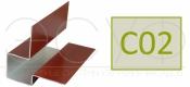 Внешний асимметричный угловой профиль Cedral C02
