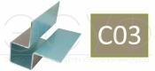 Внешний симметричный угловой профиль Cedral C03