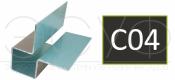Внешний симметричный угловой профиль Cedral C04