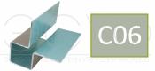 Внешний симметричный угловой профиль Cedral C06