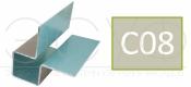 Внешний симметричный угловой профиль Cedral C08