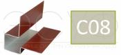 Внешний асимметричный угловой профиль Cedral C08