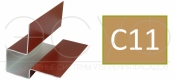 Внешний асимметричный угловой профиль Cedral C11