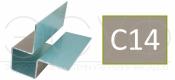 Внешний симметричный угловой профиль Cedral C14