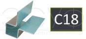 Внешний симметричный угловой профиль Cedral C18