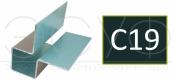 Внешний симметричный угловой профиль Cedral C19
