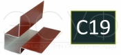 Внешний асимметричный угловой профиль Cedral C19