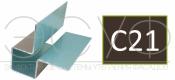 Внешний симметричный угловой профиль Cedral C21