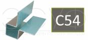 Внешний симметричный угловой профиль Cedral C54