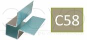 Внешний симметричный угловой профиль Cedral C58