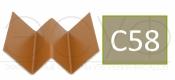 Профиль внутреннего угла Cedral C58