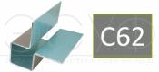 Внешний симметричный угловой профиль Cedral C62